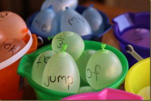 How to teach reading this summer - water balloon words