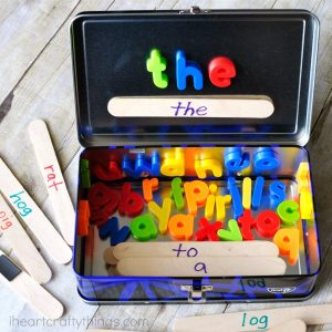 How to teach reading this summer - word building travel kit