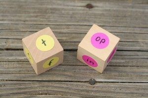 How to teach reading this summer - word family dice