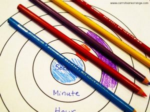 Learn to tell time - concentric circles