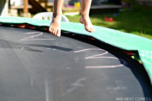 Learn to tell time on the trampoline