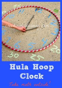 Learn to tell time with a hula hoop clock