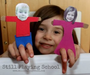 Making puppets - Personalized photo puppets