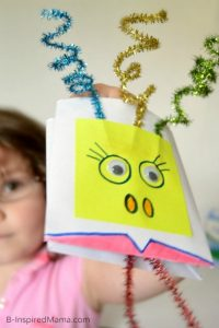 Making puppets - envelope puppets