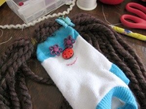 Making puppets - sock puppets