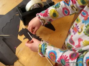 Puppet making - easy shadow puppets