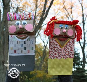 Puppet making - paper bags