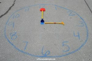Teaching time to kids - chalk clock