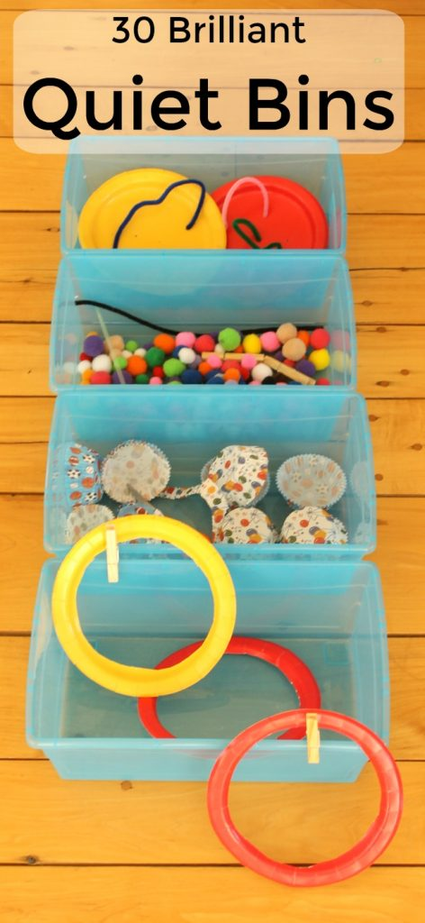 These 30 educational quiet boxes are perfect quiet time activities for preschoolers. All made up of only 9 dollarstore items!