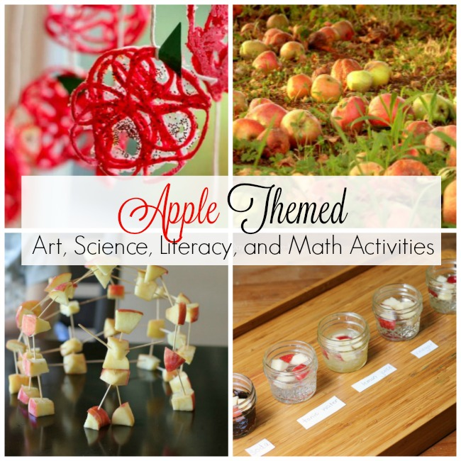 Everything you need for an Apple Theme! Perfect for in the classroom, preschool, or homeschool. Art, science, and math activities using APPLES!
