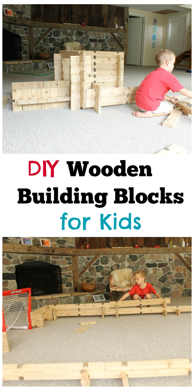 Wooden Blocks For Toddlers ~ Diy wooden building blocks how wee learn