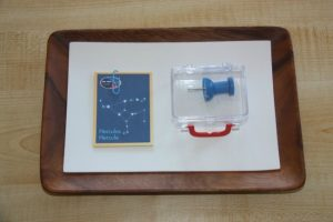 Caonstellations for Kids - push pin constellations