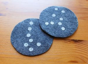 Constellations for kids - DIY coasters