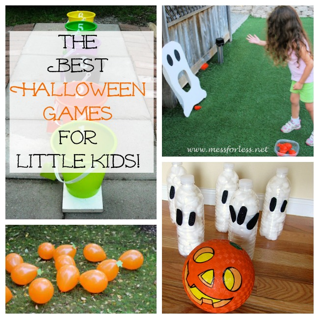 the best halloween games for the classroom or a halloween party for little kids and preschoolers