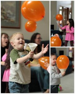 Halloween games for kids - Balloon catch