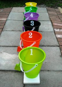 Halloween games for kids - counting toss game