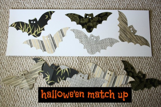 Halloween games for kids - matching game