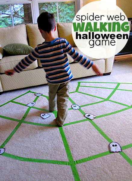Halloween games for kids - spiderweb game