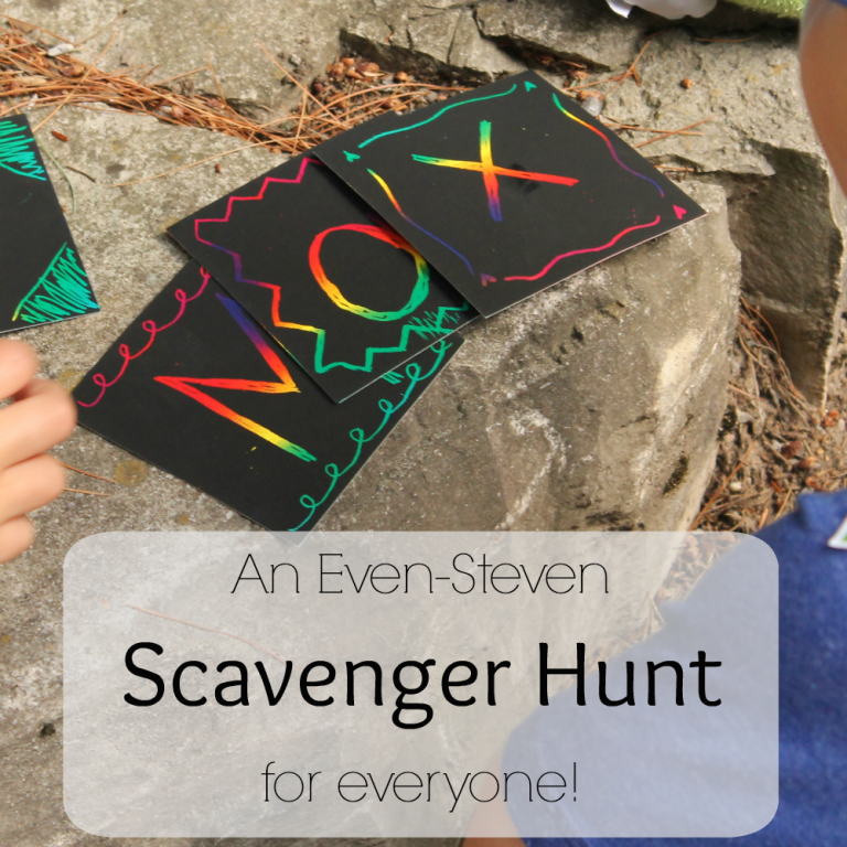 A great scavenger hunt to ensure fairness for all ages!