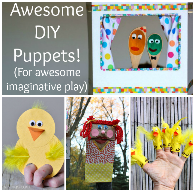 These awesome DIY puppets are perfect for kids to make and great for imaginative play! And make awesome preschooler crafts too!