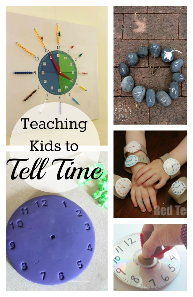 Great ideas for teaching kids to tell time!