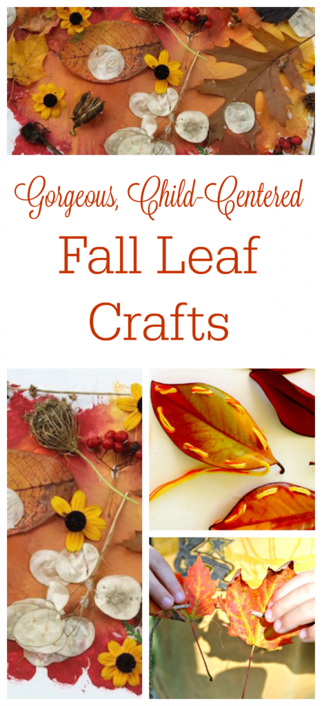beautiful fall leaf crafts for preschoolers!