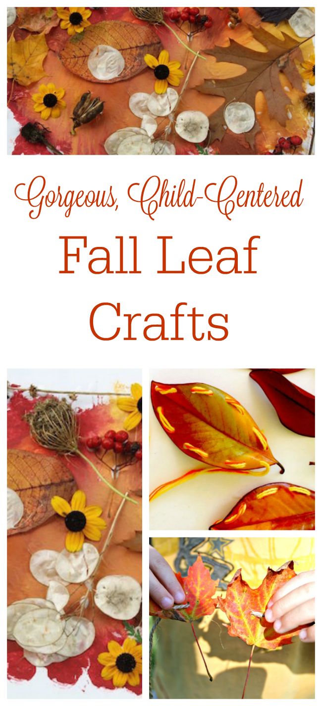 These are great fall leaves crafts for kids! These autumn craft ideas only need a fall leaf or two to get creating!