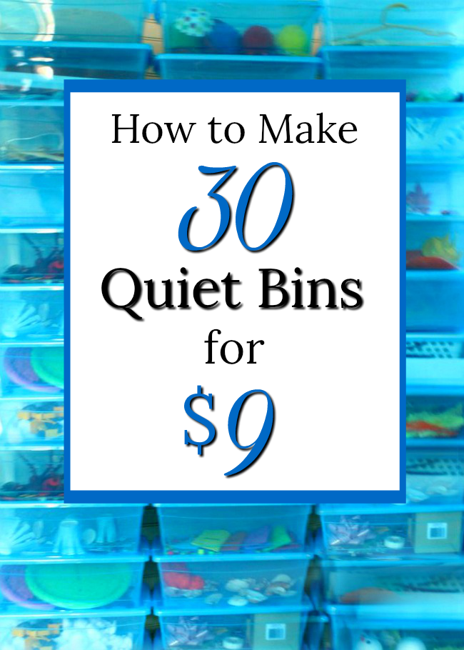 How to make 30 quiet bins and busy bags for $9! Perfect for preschoolers and toddlers. #naptime #preschool #quiettime #busybags #parenting