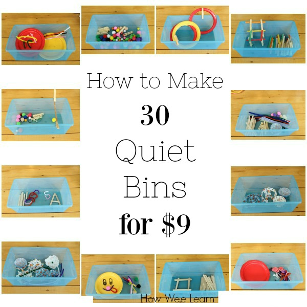 How to make 30 quiet bins and busy bags for $9! Perfect for preschoolers and toddlers. #naptime #preschool #quiettime #busybags #parenting How we found a focus to our days at home and created a peaceful rhythm and routine. #howweelearn #homeschool #preschool #parenting #routines #independentplay #preschoolactivities #preschoollearning