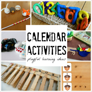 20 Playful Calendar activties perfect for preschoolers and kindergarteners!