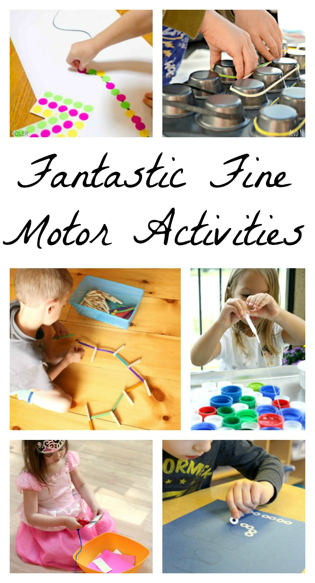 Fabulously fantastic fine motor activities how wee learn for Motor skills for toddlers