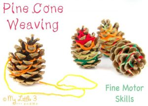fine-motor-activities-rubber-bands-and-pine-cones