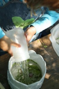 Sensory Activities for Toddlers - Kids make a herb soup engaging their sense of sight, smell, taste and touch.