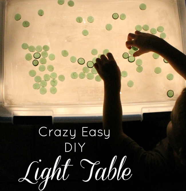 The easiest and BEST DIY Light table tutorial - 10 minutes to make and so inexpensive! #howweelearn #quiettime #independentplay #preschoolactivities #preschoollearning