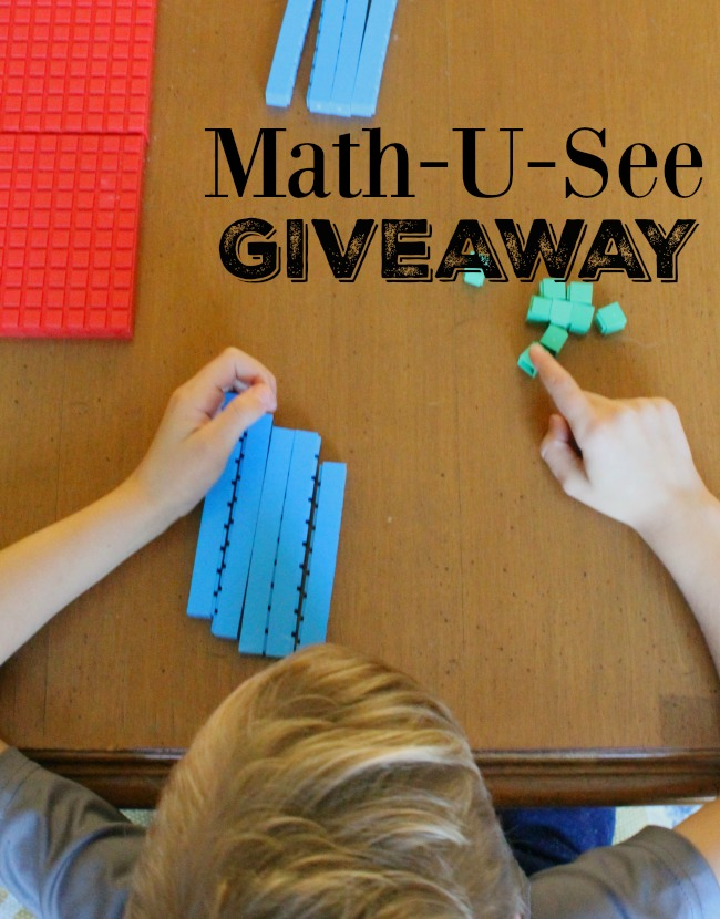 Leave a comment on the blog for a chance to win this Math-U-See set! Fabulous hands on math for kids
