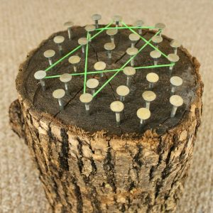 Stump and Nails Geoboard