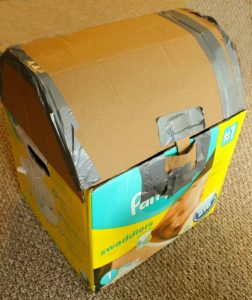 Make a treasure chest out of any cardboard box! This is a great STEAM activity for kids.