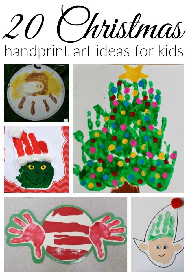 20 Christmas handprint art ideas for children
