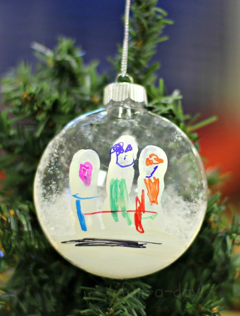 christmas ornaments to make with kids fingerprint snowmen - Kids Christmas Ornaments