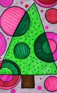 christmas-art-for-kids-concentric-circles