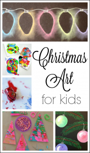 Amazing Christmas art for kids to make! These are great art projects for kids of all ages this holiday season!