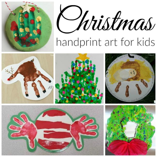 Christmas handprint art kids can make