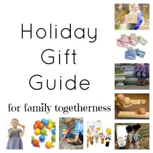 A holiday gift guide that promotes family togetherness! Gifts that help preschoolers learn and children grow with their families love and support! These are incredible gifts for kids for Christmas!