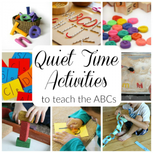 These quiet time alphabet activities for kids are brilliant! SImple and independent learning to practice letters for preschoolers.
