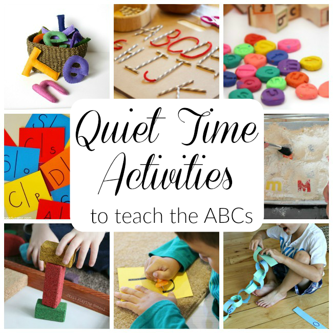 Quiet Time Alphabet Activities How Wee Learn