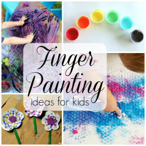20 finger painting ideas and recipes for kids!