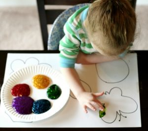 finger-painting-ideas-matching