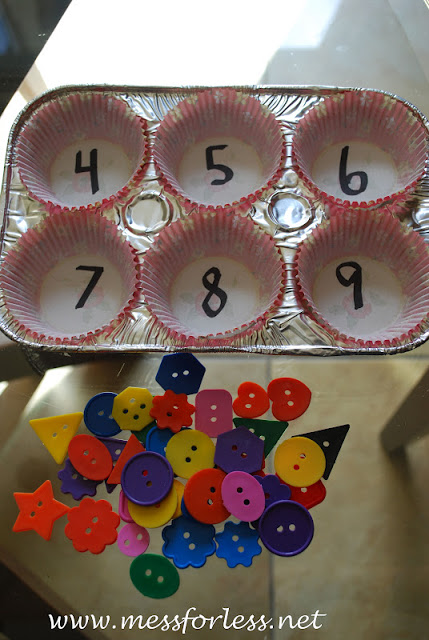 teaching numbers using quiet time activities and boxes