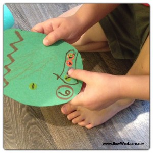 A number learning quiet time activity for toddlers