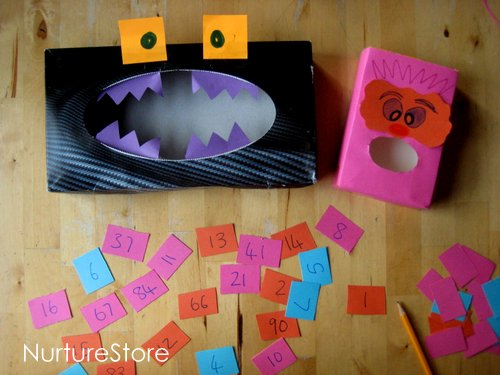 number monster quiet time activity for preschoolers
